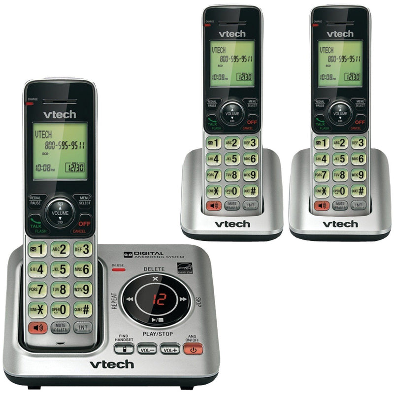 3-Pack: VTECH CS66293 DECT 6.0 3-Handset Landline Telephone Home Essentials - DailySale