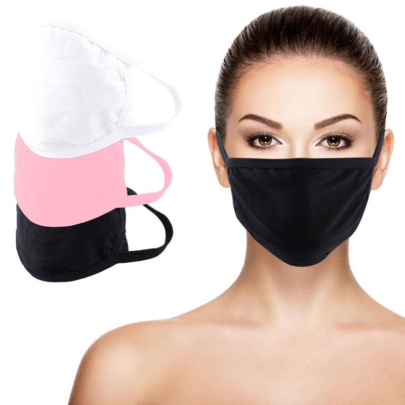 3-Pack: Washable And Reusable Non - Medical Face Protection Mask Wellness & Fitness - DailySale