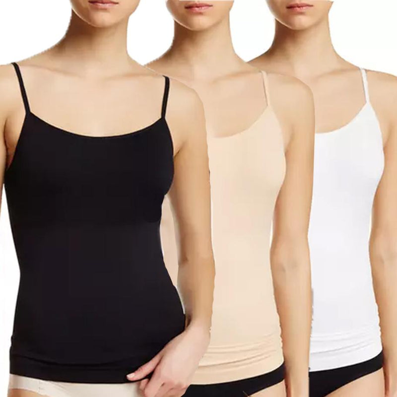 3-Pack: Women's Seamless Shaping Camisoles Women's Clothing Assorted - DailySale