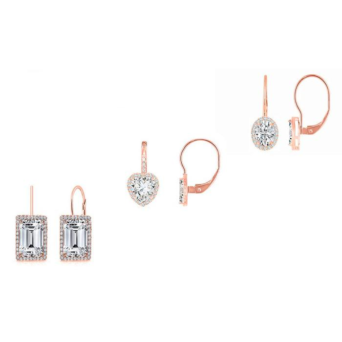 3-Pair Set: Women's Leverback Earrings Earrings Rose Gold - DailySale