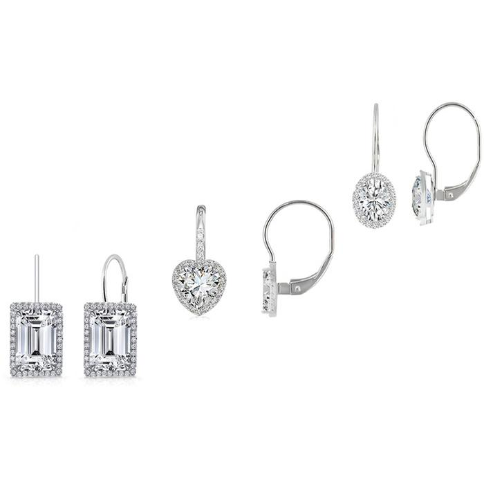 3-Pair Set: Women's Leverback Earrings Earrings Silver - DailySale