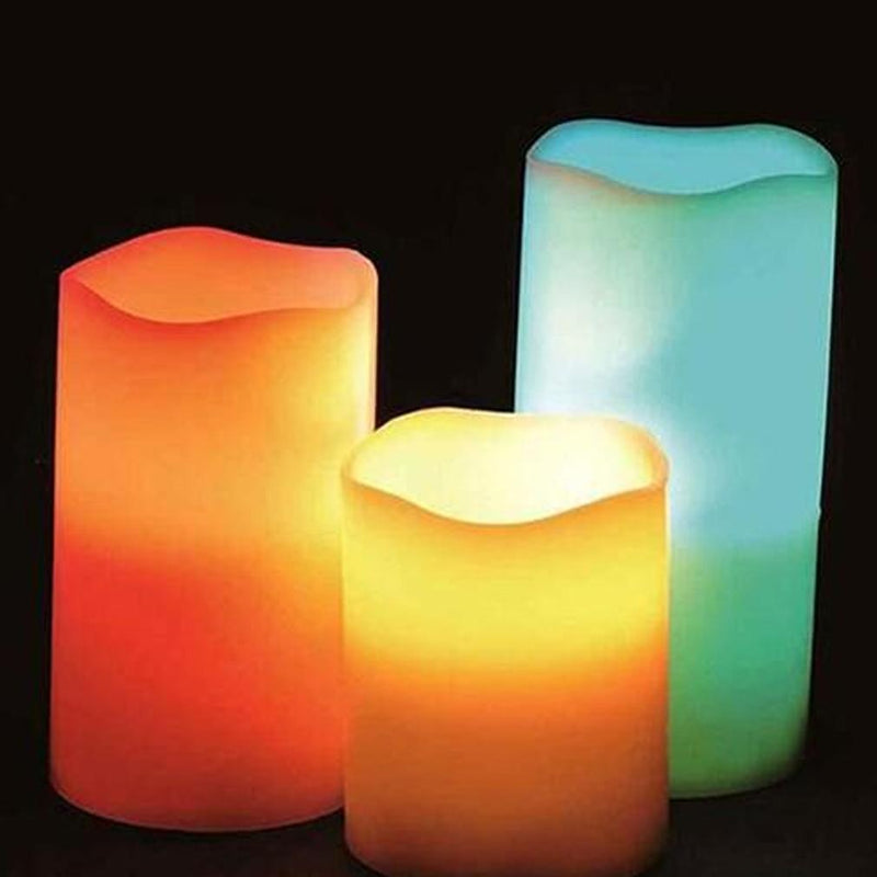 3-Piece: Flameless LED Color-Changing Candles Furniture & Decor - DailySale