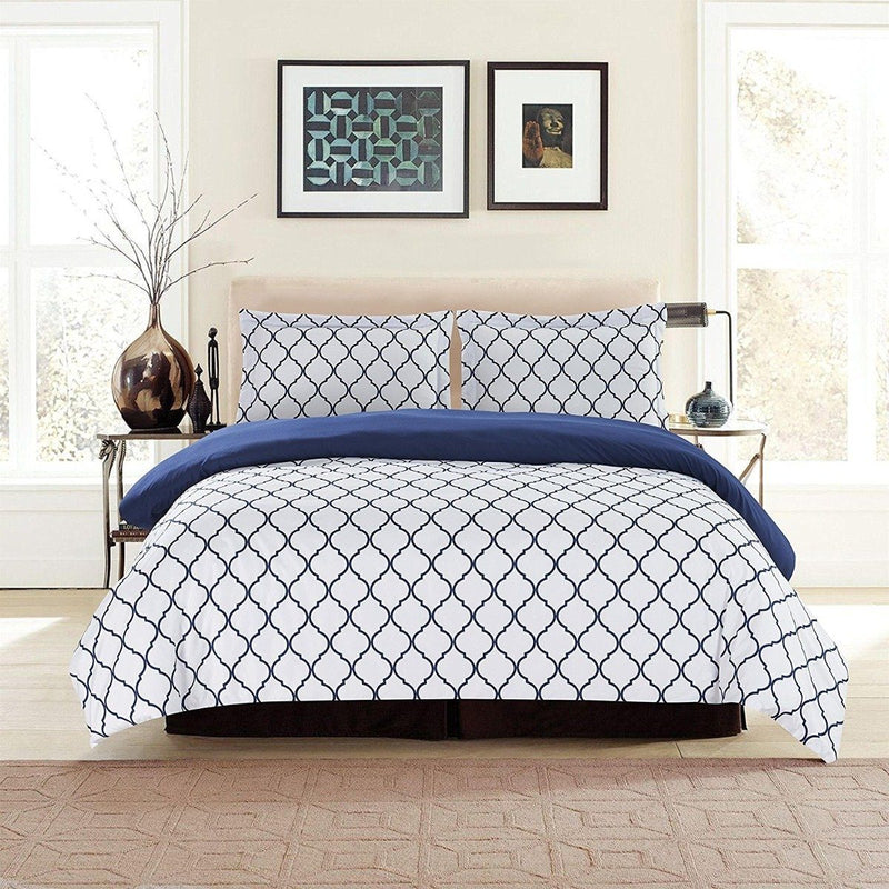 3-Piece: Lux Decor Collection Duvet Cover Set Linen & Bedding - DailySale