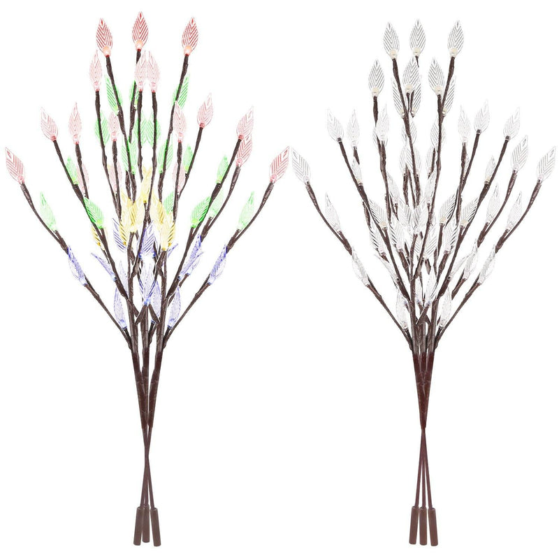 3-Piece Set: 60 LED Solar Garden Lights Tree Branch Leaf Shape Lamp Lighting & Decor - DailySale