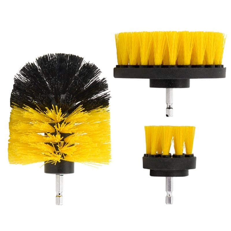 3-Piece Set: All Purpose Power Scrubber Drill Cleaning Brush Home Essentials - DailySale