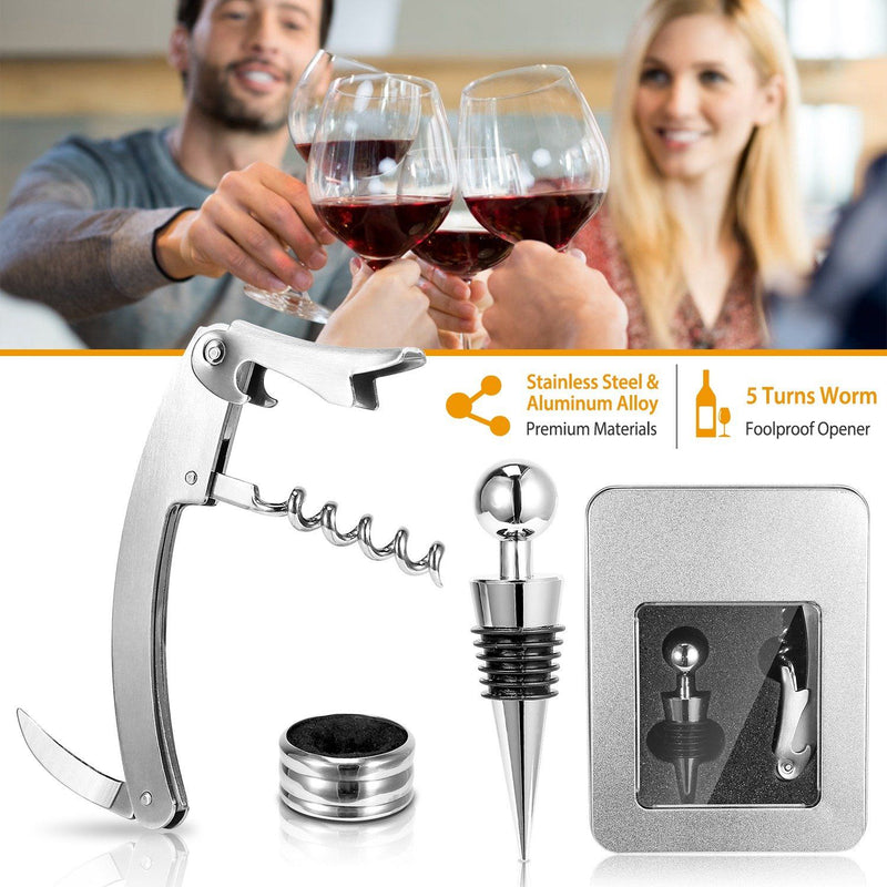 3-Piece Set: Corkscrew Bottle Opener Set Kitchen & Dining - DailySale