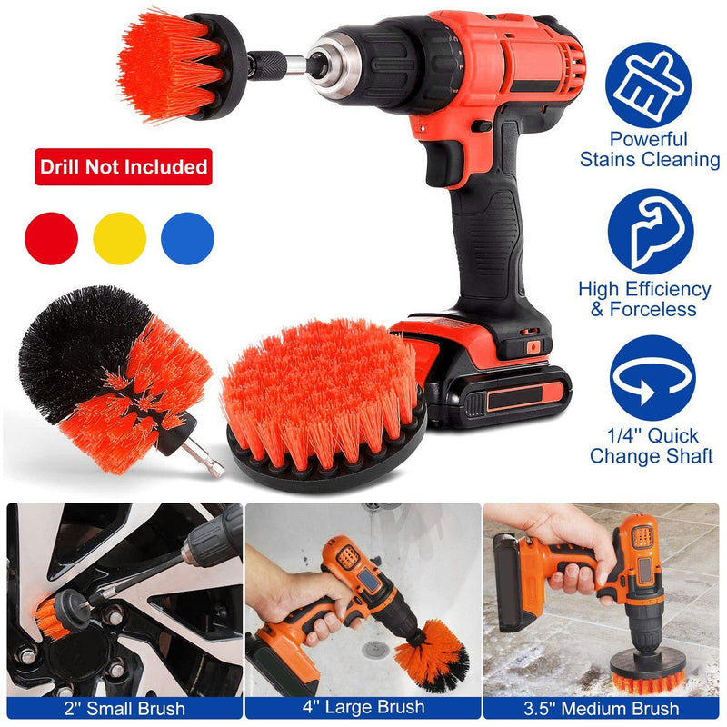 3-Piece Set: Drill Brush Power Scrubber Home Improvement - DailySale