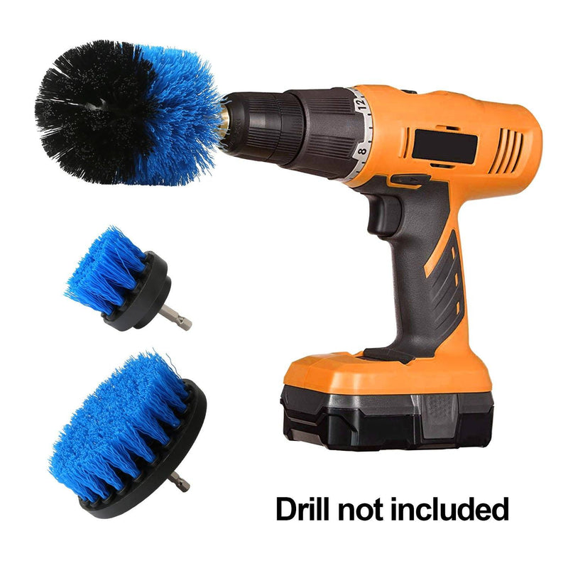 3-Piece Set: Drill Brush Power Scrubber