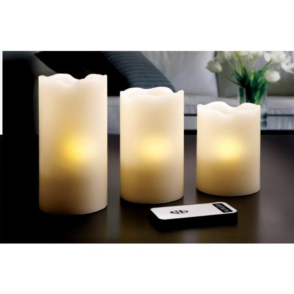 3-Piece Set: LED Flicker Candles Furniture & Decor - DailySale