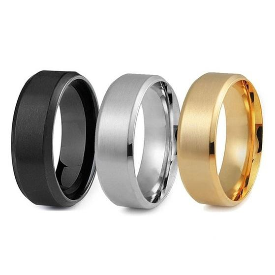 3-Piece Set: Men's Stainless Steel Comfort Fit Wedding Band Ring - Assorted Sizes Men's Apparel 9 - DailySale