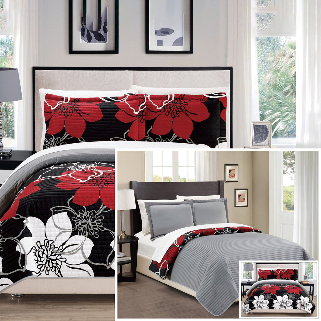 3-piece set: woodside twin, queen or king bedding quilt