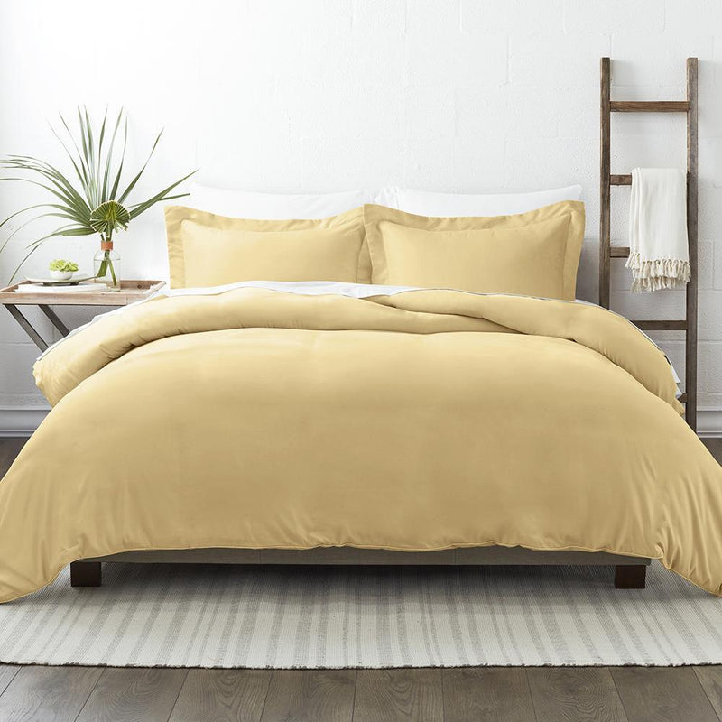 3-Piece: Solid Duvet Cover Set Bed & Bath Twin/Twin XL Gold - DailySale