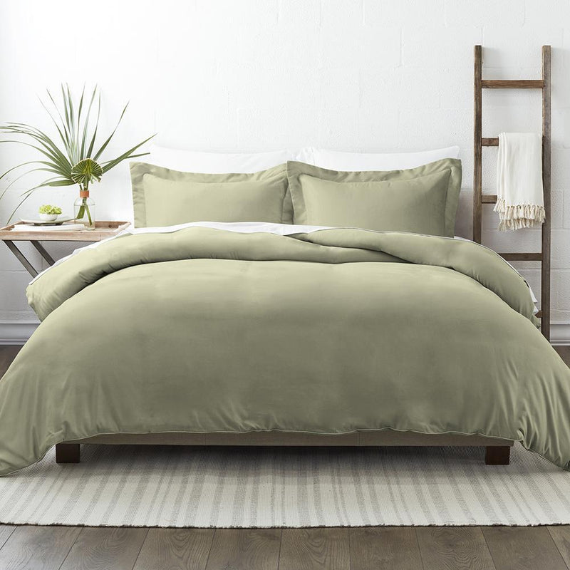 3-Piece: Solid Duvet Cover Set Bed & Bath Twin/Twin XL Sage - DailySale