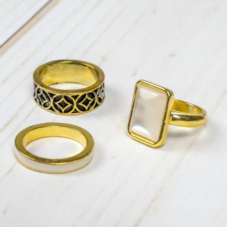 3-Piece Stacking Ring Set Rings 5 - DailySale