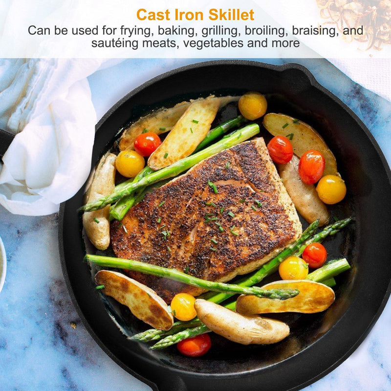 3-Pieces: Pre-Seasoned Cast Iron Skillet Kitchen & Dining - DailySale