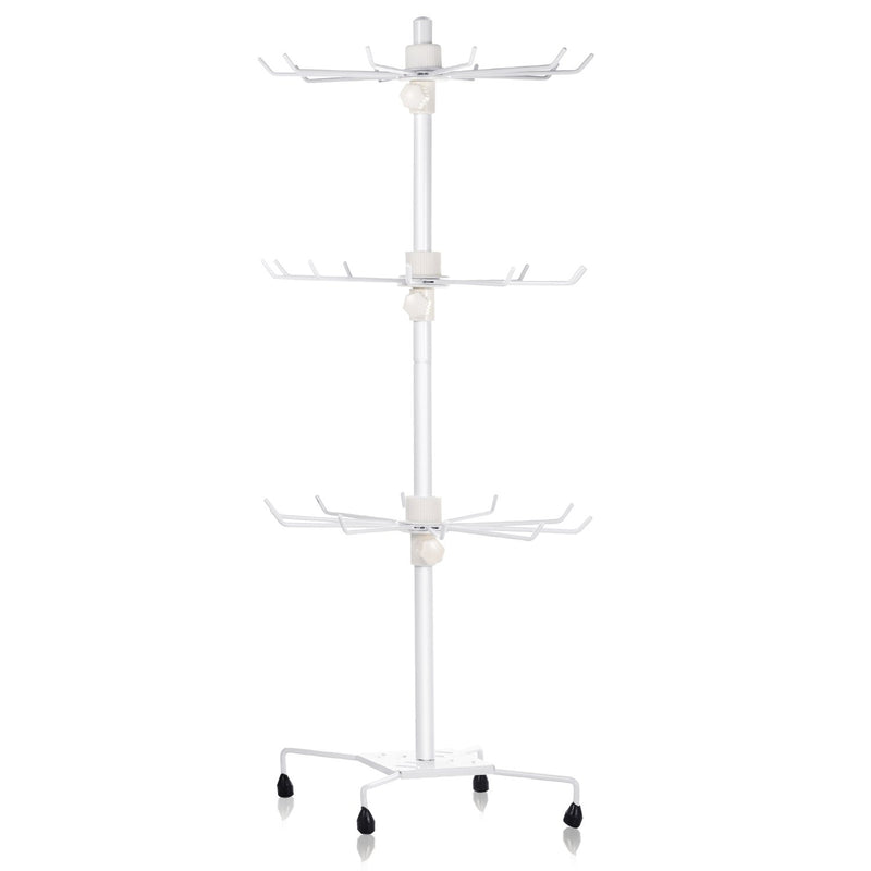 3-Tier Metal Jewelry Rack 30-Hook Necklaces Bracelets Display Stand Closet & Storage - DailySale
