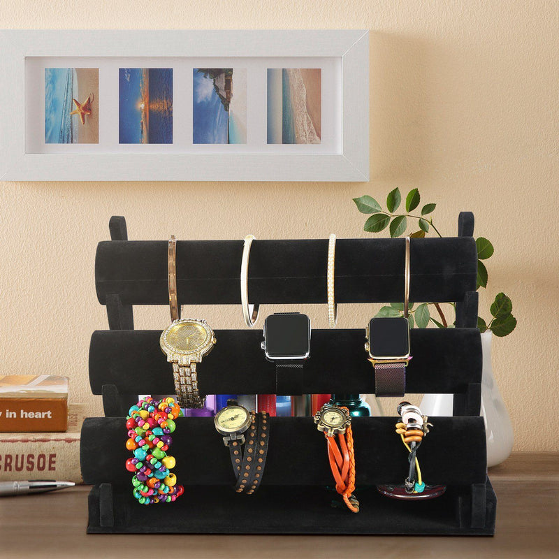 3-Tier Velvet Jewelry Stand Closet & Storage - DailySale