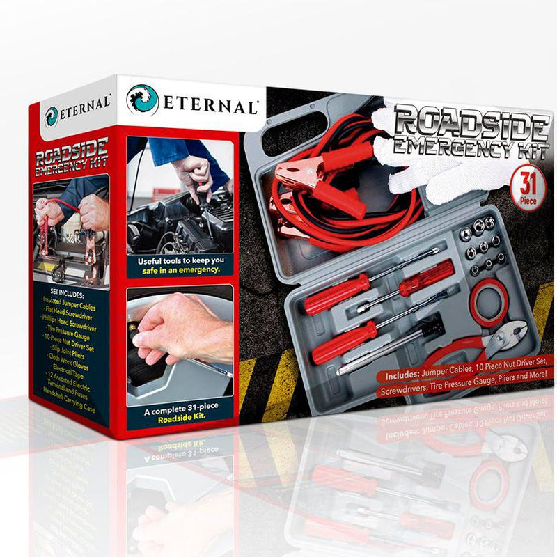 31-Piece: Roadside Emergency Kit Auto Accessories - DailySale