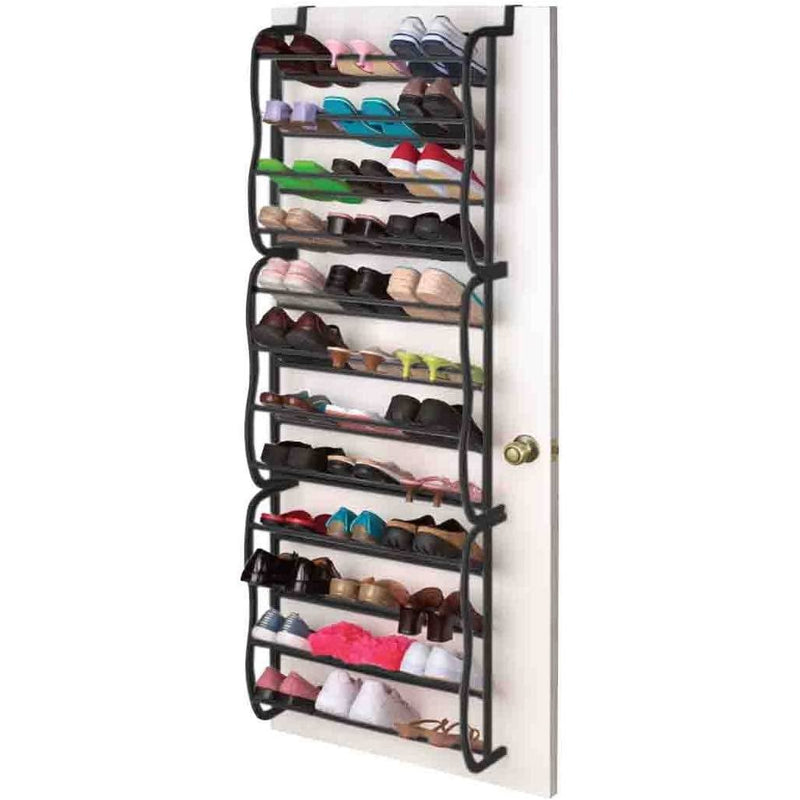 36-Pair: Sunbeam Over the Door Shoe Rack Closet & Storage - DailySale