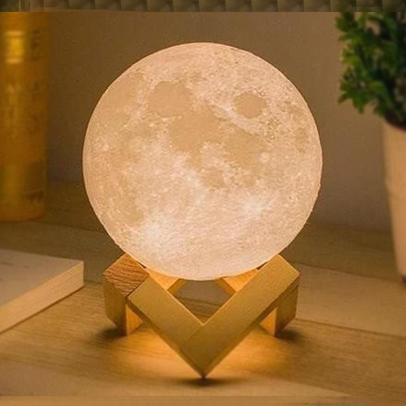 3D Printed Night Light Moon Lamp Home Lighting - DailySale