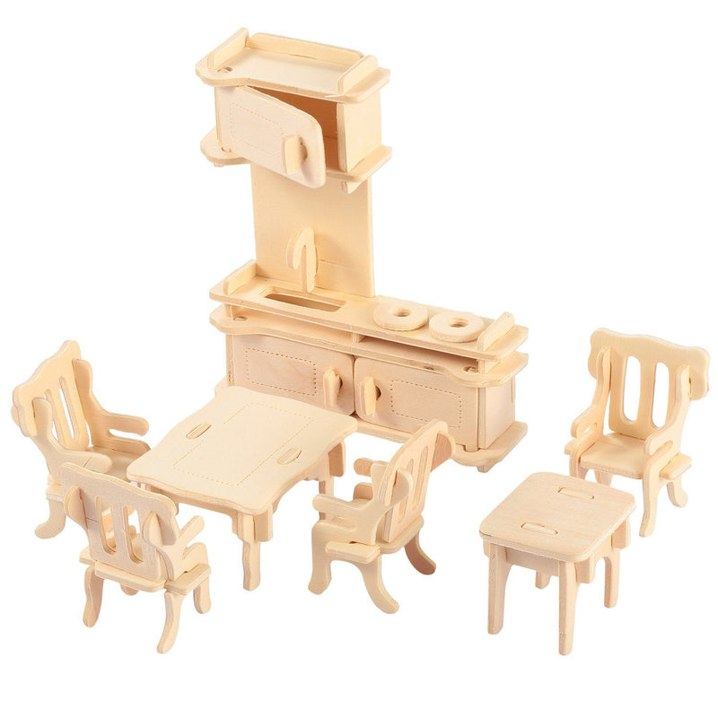 3d Wooden Dollhouse Furniture Puzzles Toys & Games - DailySale