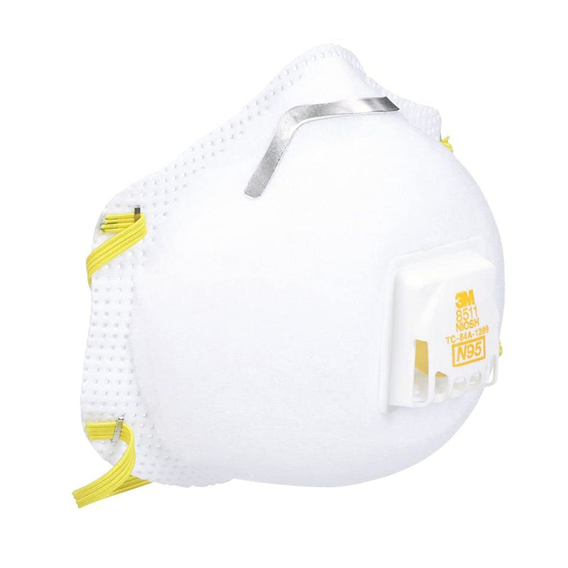 3M 8511 N95 Particulate Respirator with Valve Face Masks & PPE 1-Pack - DailySale