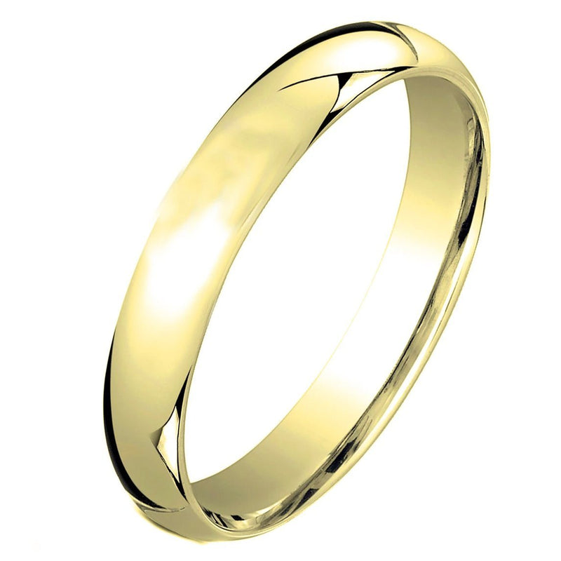 3MM Unisex Comfort Fit Wedding Band Ring Rings 5 Gold - DailySale