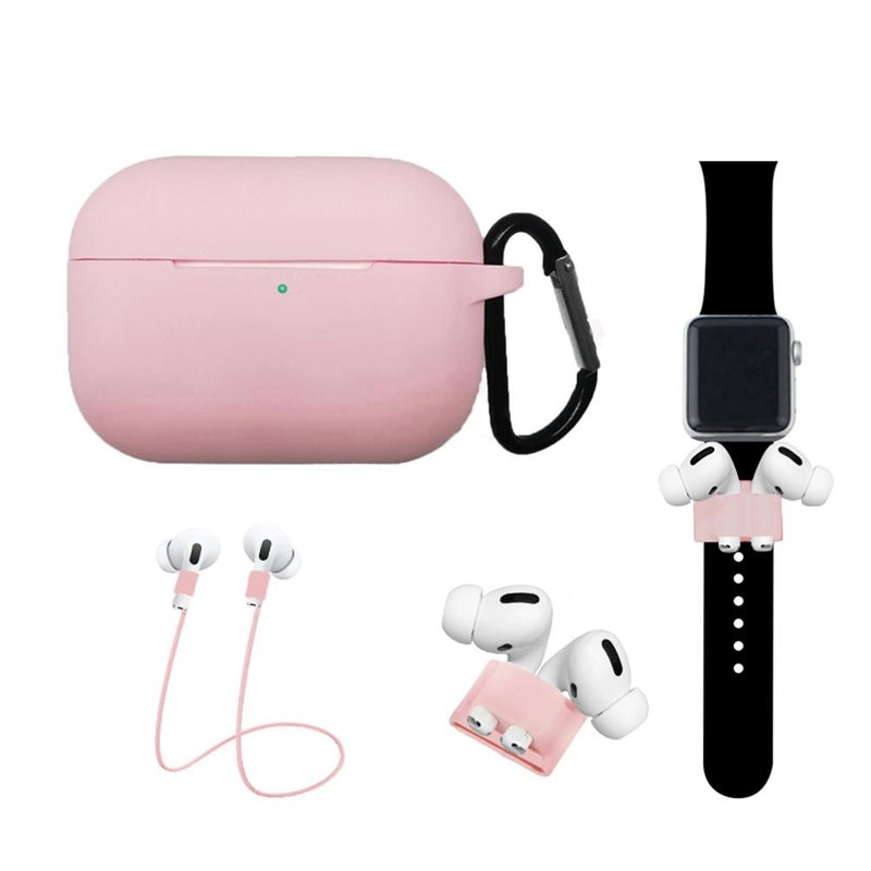 4-In-1 Airpods Pro3 Case Carabiner Sleeve Anti-lost Rope Set Gadgets & Accessories Pink - DailySale