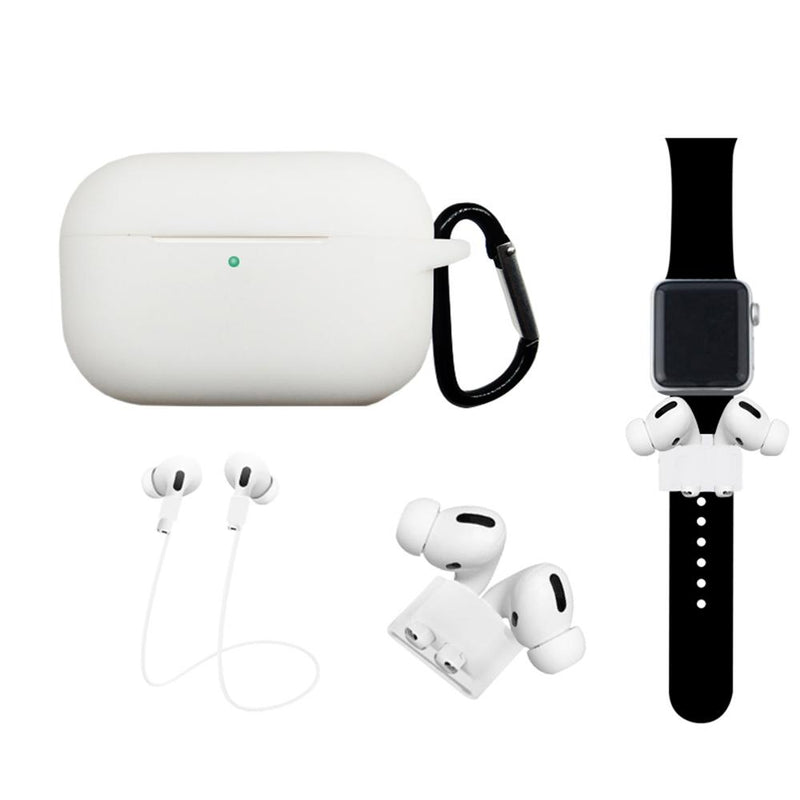 4-In-1 Airpods Pro3 Case Carabiner Sleeve Anti-lost Rope Set Gadgets & Accessories White - DailySale