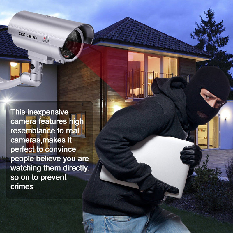 4 Pack: Fitnate Fake Security Camera CCTV Surveillance System Camera, TV & Video - DailySale