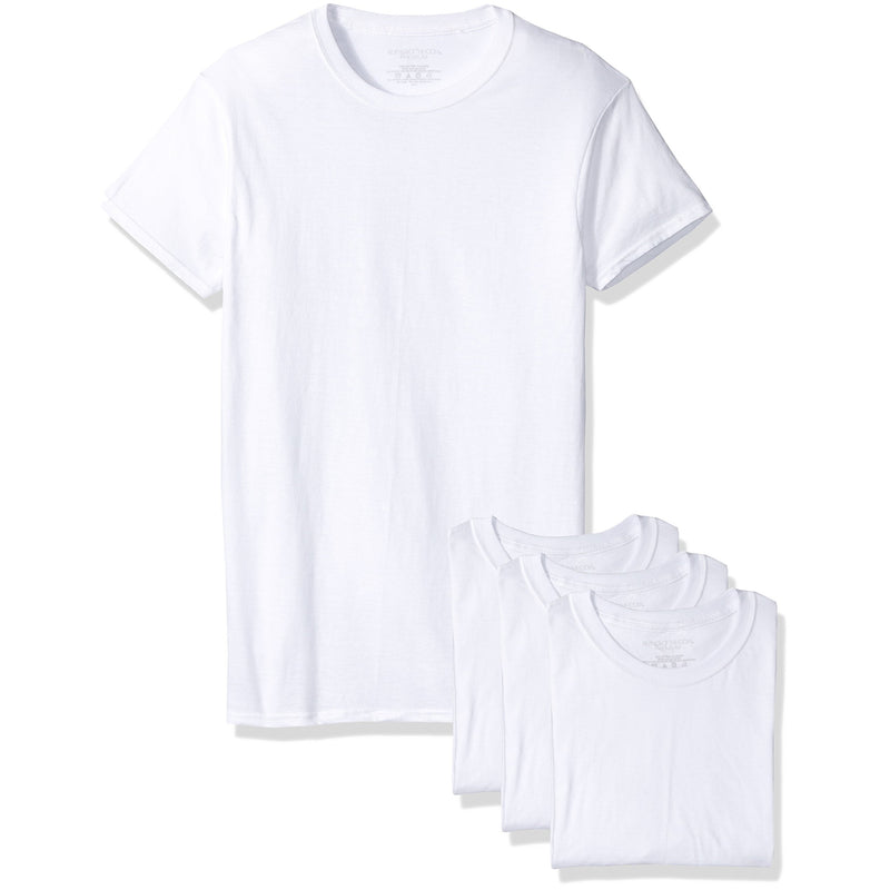 4-Pack: Fruit Of The Loom Mens T Shirt 100% Cotton White Men's Clothing - DailySale
