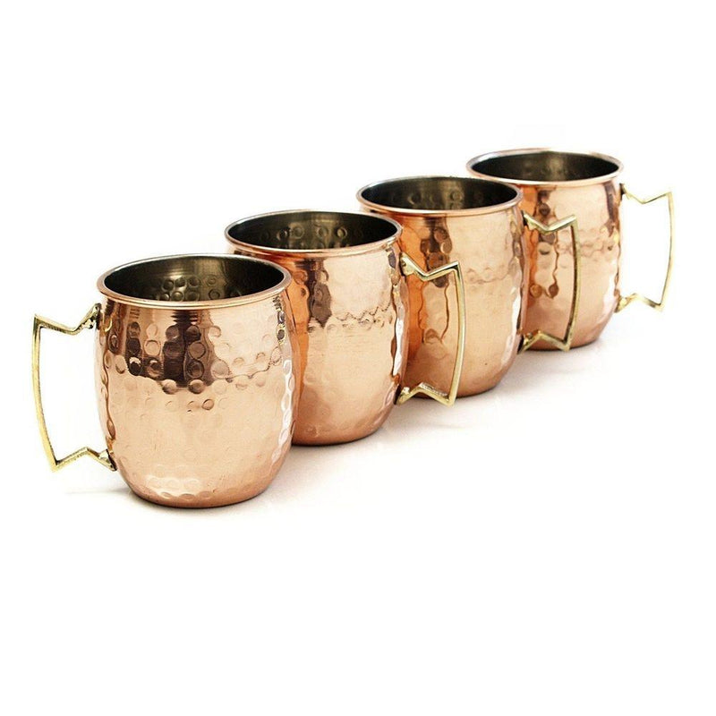 4-Pack: Hammered Copper-Finish Moscow Mule Mugs Kitchen Essentials - DailySale