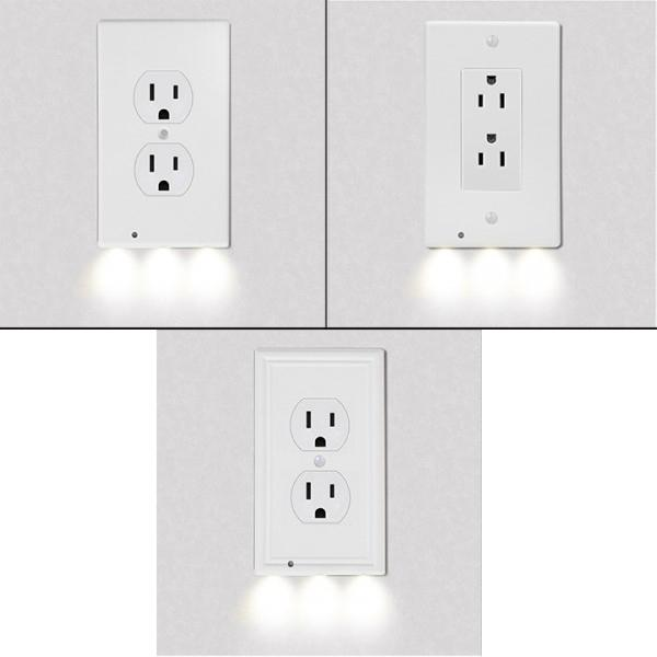 4-Pack: LED Night Light Outlet Cover - Assorted Styles Home Lighting - DailySale