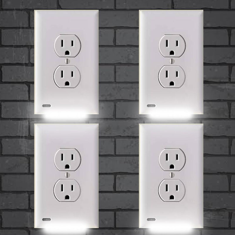 Outlet Cover with LED Night Light (4 Pack)