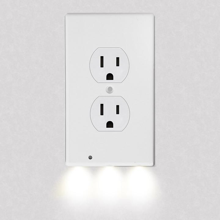 4-Pack: LED Night Light Outlet Cover - Assorted Styles Home Lighting No. 1 - DailySale