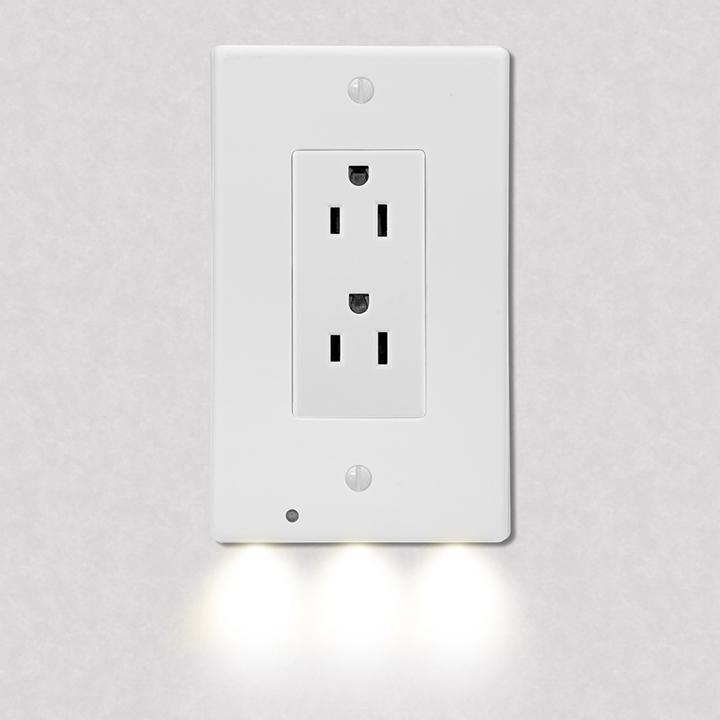 4-Pack: LED Night Light Outlet Cover - Assorted Styles Home Lighting No. 2 - DailySale