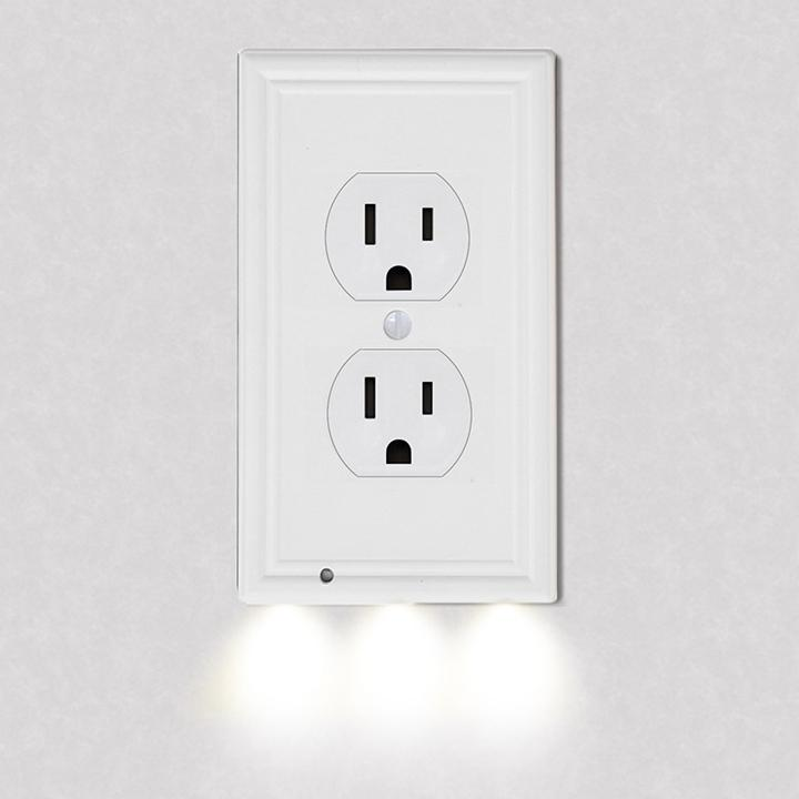 4-Pack: LED Night Light Outlet Cover - Assorted Styles Home Lighting No. 3 - DailySale