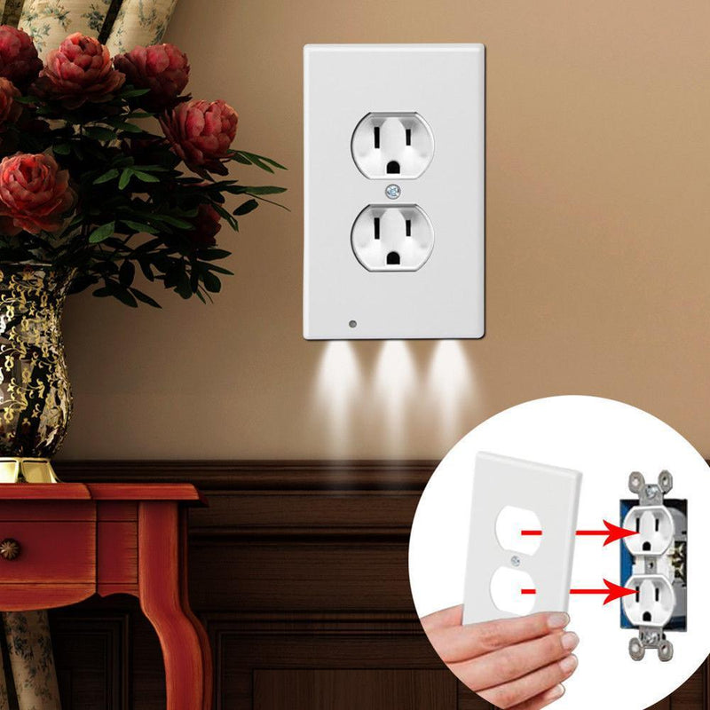 4-Pack: LED Night Light Outlet Cover - Assorted Styles Lighting & Decor - DailySale