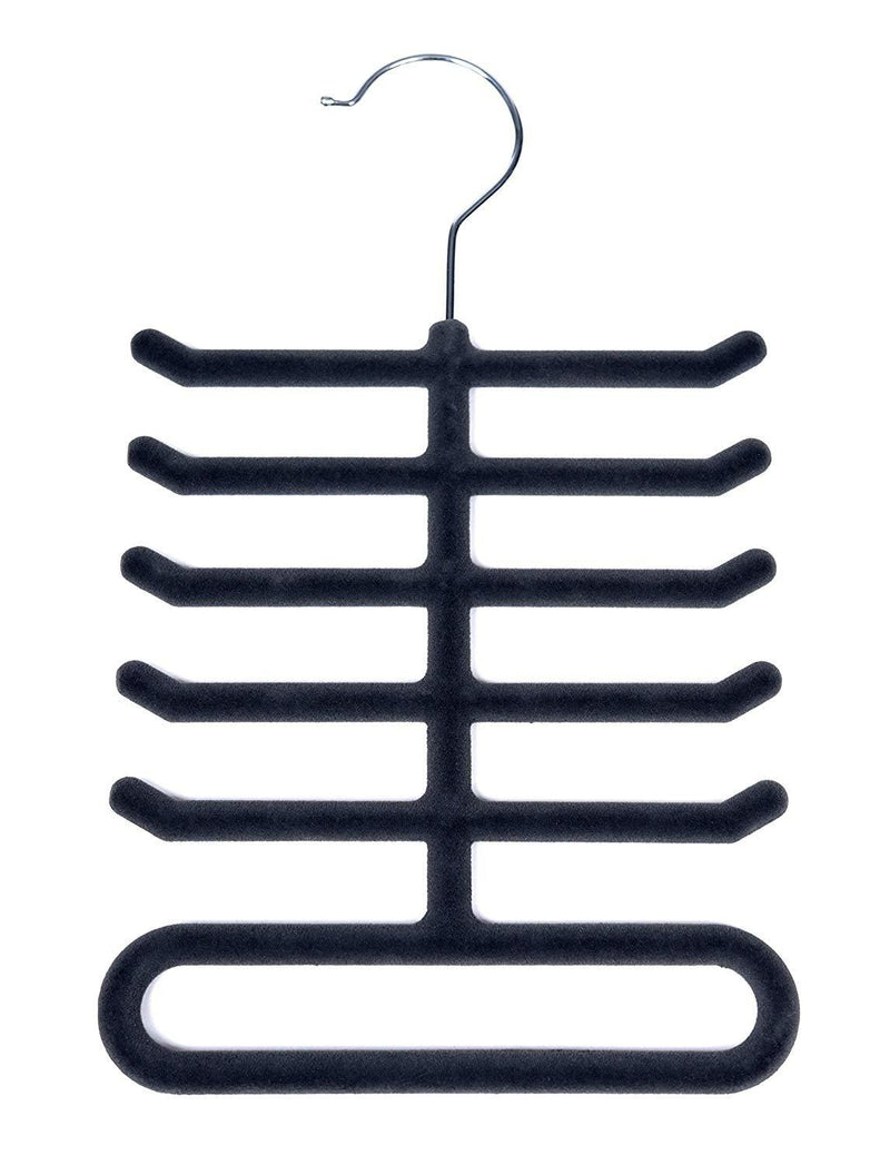 4-Pack: Non-Slip Velvet Tie Hanger Organizer Rack Home Essentials - DailySale