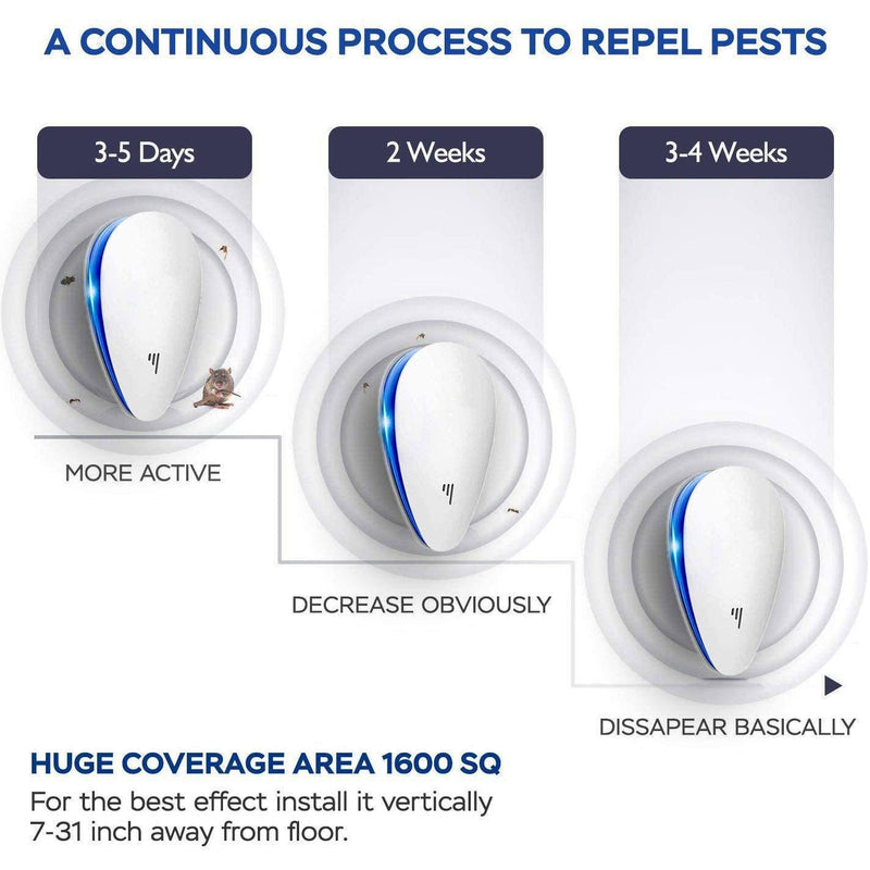 4-Pack: Pest Control Ultrasonic Repellent Everything Else - DailySale