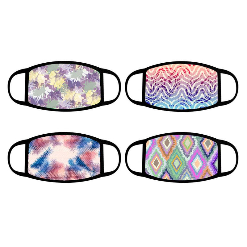 4-Pack: Reusable Cotton Face Mask Wellness & Fitness Tie Dye - DailySale