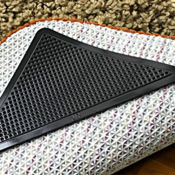4-Pack: Self-Adhesive Rug Multi-use Grip Pads Home Essentials - DailySale