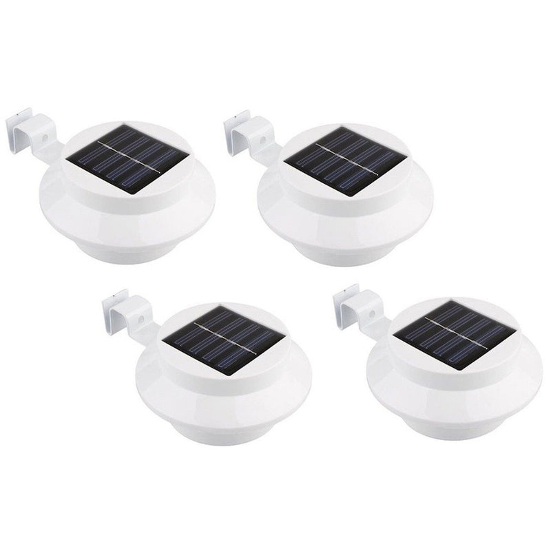 4-Pack: Solar-powered LED Outdoor Lights Home Lighting White - DailySale