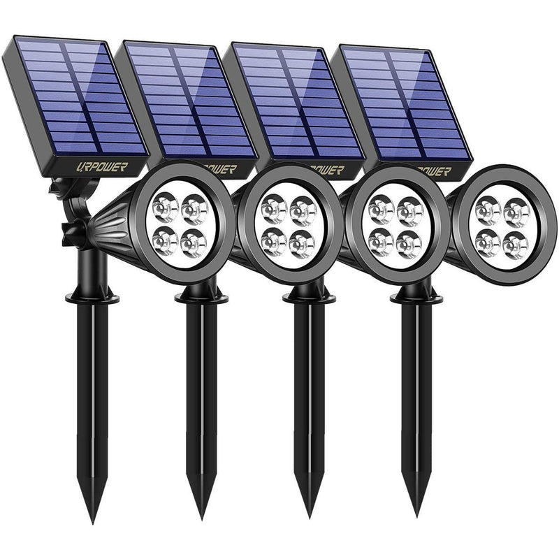 4-Pack: URPOWER Outdoor Solar Spotlight Garden & Patio - DailySale