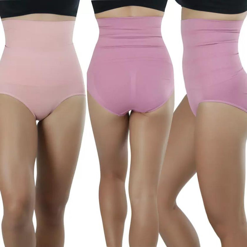 4-Pack: Women's High-Waisted Double Compression Briefs Women's Clothing - DailySale