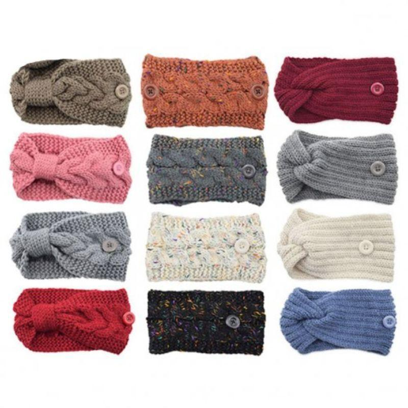 4-Pack: Women's Winter Headband and Ear Warmer with Buttons to Hold Mask Women's Accessories - DailySale