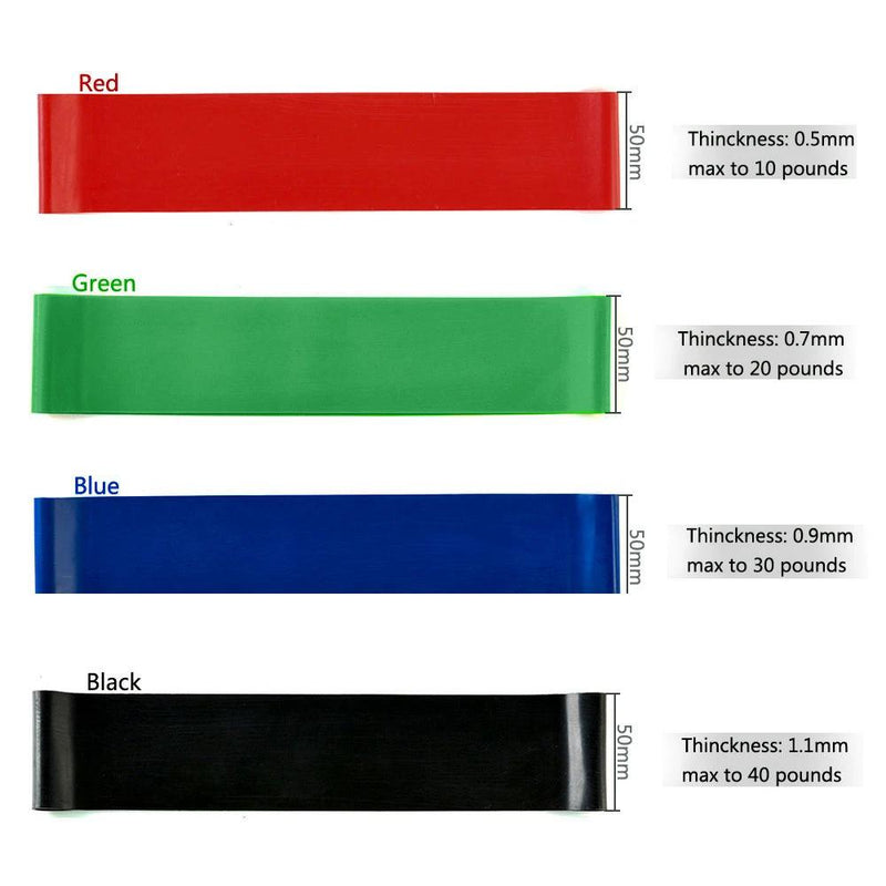4-Piece: Exercise Resistance Loop Bands Assisted Pull Up Yoga Training Fitness - DailySale