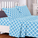 4-Piece: Lux Decor Collection Quatrefoil Sheet Set Linen & Bedding - DailySale