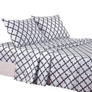 4-Piece: Lux Decor Collection Quatrefoil Sheet Set Linen & Bedding White Queen - DailySale