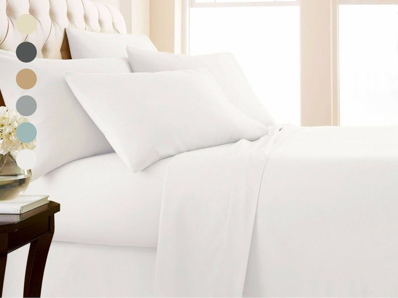 4-Piece Set: 1000 Thread Count Egyptian Cotton Sheets Linen & Bedding - DailySale